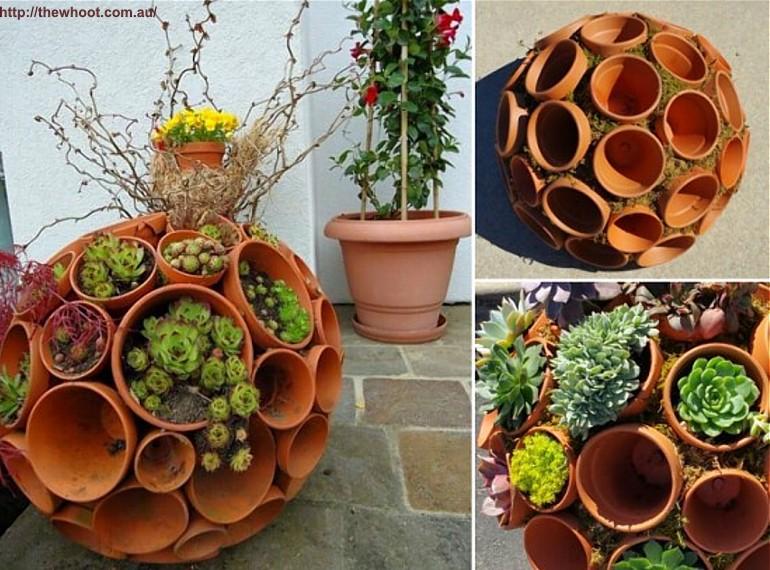 Doniczki w roli g wnej kwiaty ogrodowe for Zimmerpflanzen arrangieren
